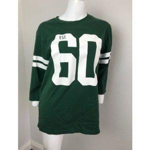 Nike NY Jets NFL Shirt Medium Green 100%Cotton #60
